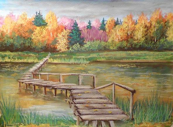 Как рисовать пастелью поэтапно для начинающих - сухая и масляная пастель 3