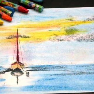 Как рисовать пастелью поэтапно для начинающих - сухая и масляная пастель 4