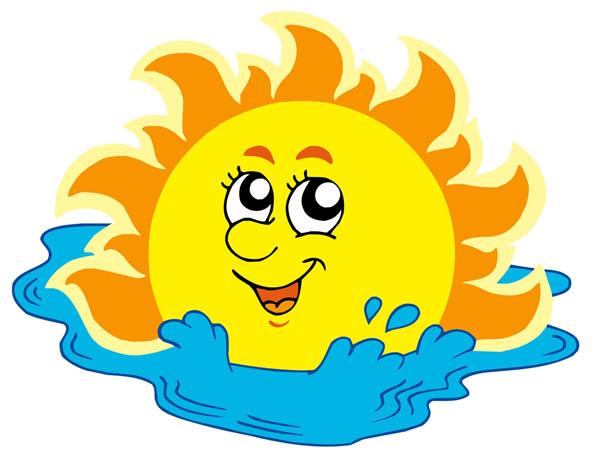 Картинки солнышка с улыбкой и лучиками - для детей, смотреть 11