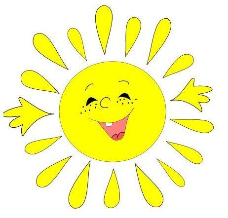 Картинки солнышка с улыбкой и лучиками - для детей, смотреть 3