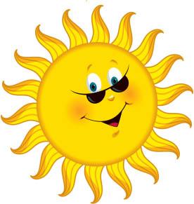 Картинки солнышка с улыбкой и лучиками - для детей, смотреть 4