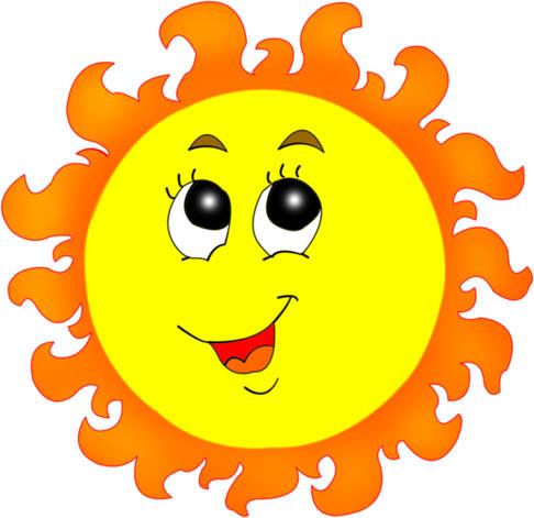Картинки солнышка с улыбкой и лучиками - для детей, смотреть 6