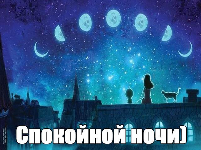 Спокойной ночи картинки - прикольные, смешные, красивые 4