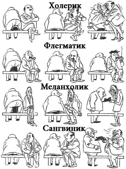 Типы темперамента человека - психологическая характеристика 1