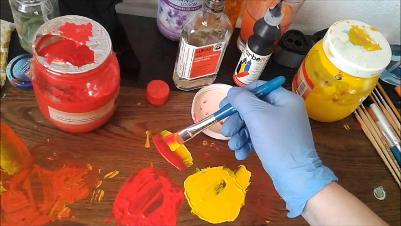 Как рисовать акриловыми красками на холсте, бумаге, советы 3