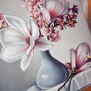 Как рисовать акриловыми красками на холсте, бумаге, советы 4