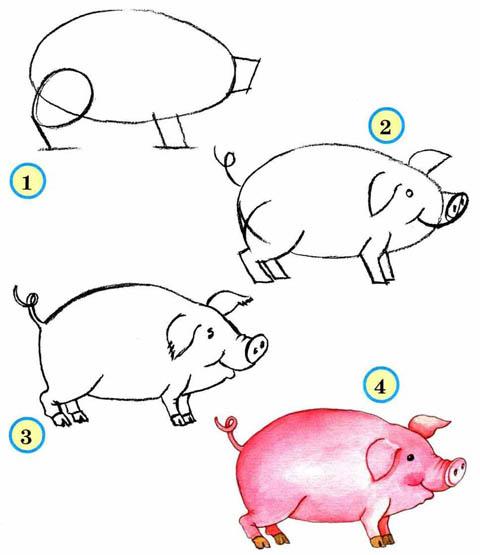 Как рисовать животных поэтапно карандашом для начинающих 10
