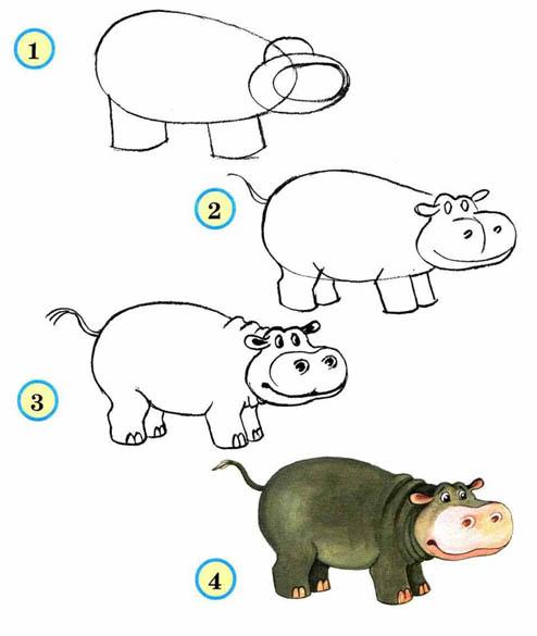 Как рисовать животных поэтапно карандашом для начинающих 3