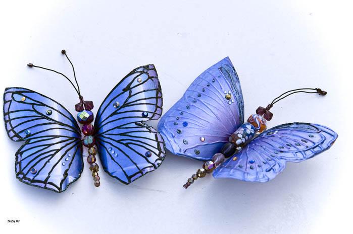 Как сделать бабочку из бумаги, бисера, проволоки своими руками 4
