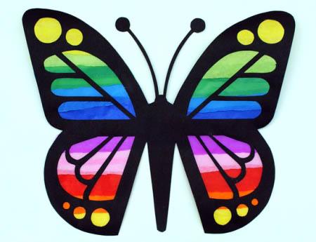 Как сделать бабочку из бумаги, бисера, проволоки своими руками 7