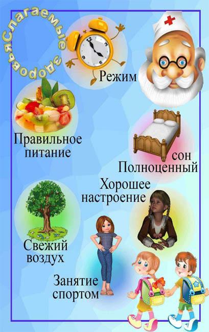 Красивые картинки - Здоровый образ жизни для детского сада 16
