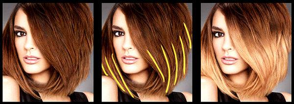 Эффект выгоревших волос на темных волосах - фото, описание 1