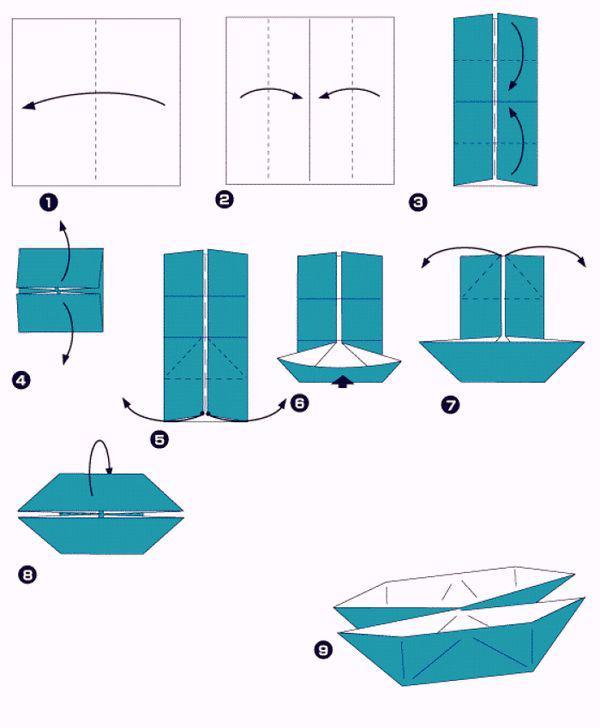 Как сделать кораблик из бумаги - пошаговая инструкция 2