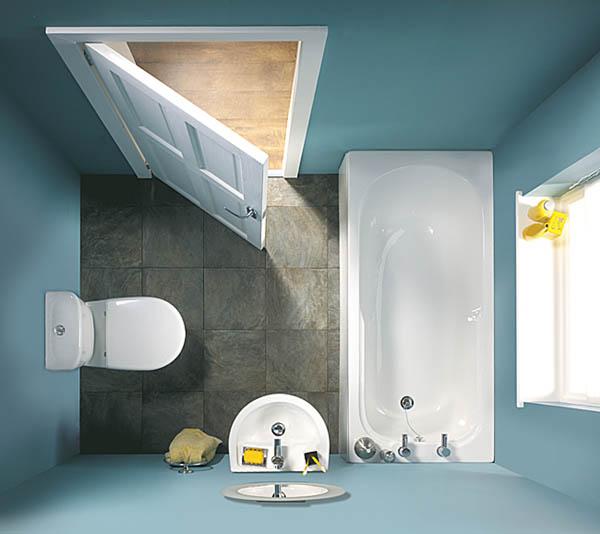Как сделать ремонт в маленькой ванной своими руками - фото и идеи 14