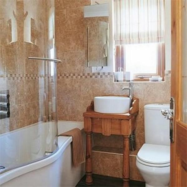 Как сделать ремонт в маленькой ванной своими руками - фото и идеи 17