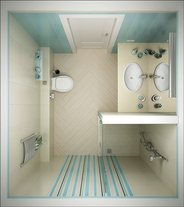 Как сделать ремонт в маленькой ванной своими руками - фото и идеи 4