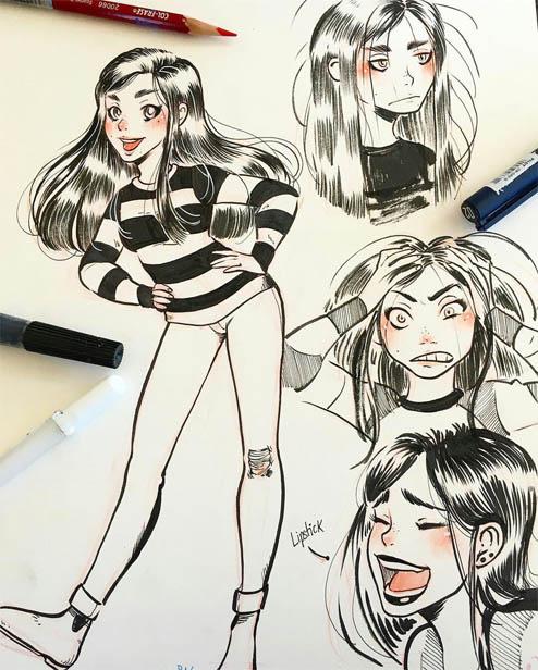 Картинки для срисовки легкие - для девочек и мальчиков, новые 9