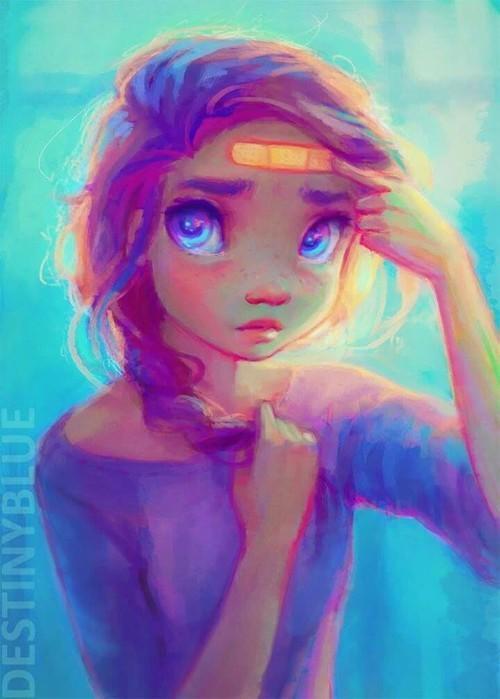 Красивые и крутые картинки на аву для девушек нарисованные 1