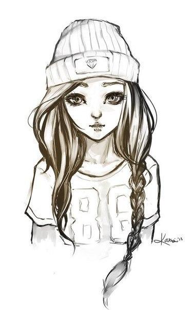 картинки девушки рисованные на аву