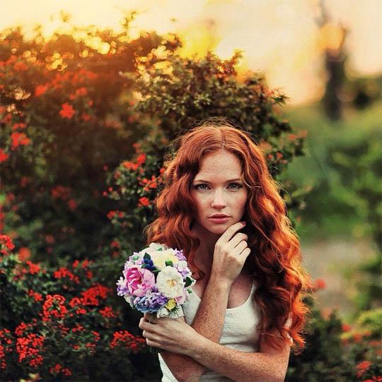 Красивые картинки девушек с цветами - смотреть, скачать бесплатно 17