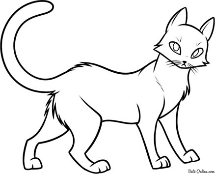Красивые картинки котов для срисовки - легкие, простые, прикольные 14