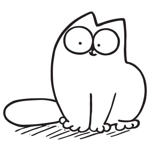 Красивые картинки котов для срисовки - легкие, простые, прикольные 5