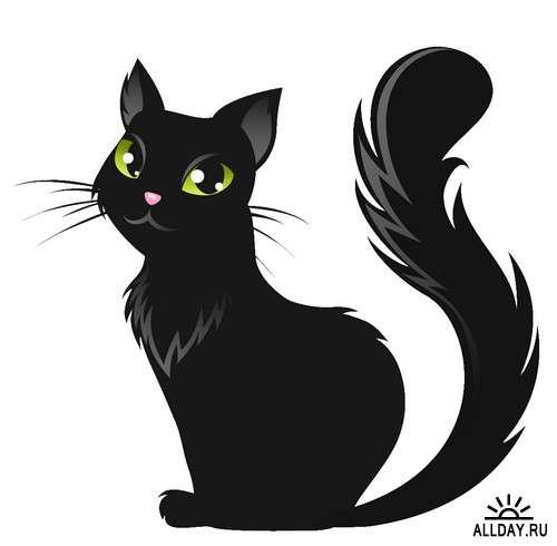 Красивые картинки котов для срисовки - легкие, простые, прикольные 8