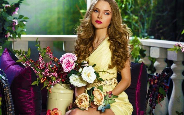 Красивые фото девушек с цветами - скачать, смотреть бесплатно 11