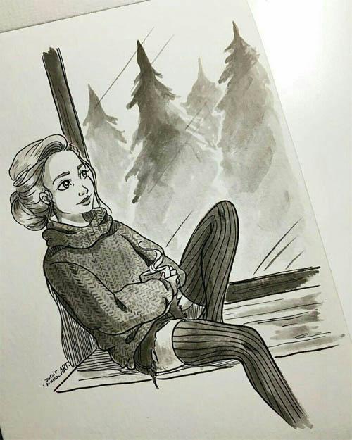 Легкие картинки для срисовки карандашом для начинающих 12