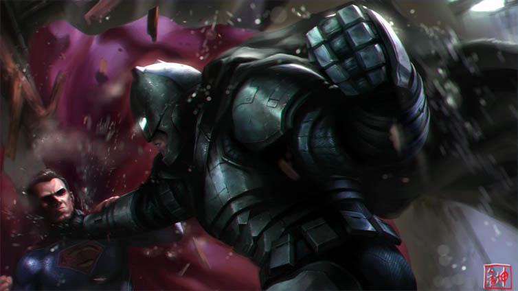 Прикольные картинки Бэтмен против Супермена - смотреть бесплатно 13