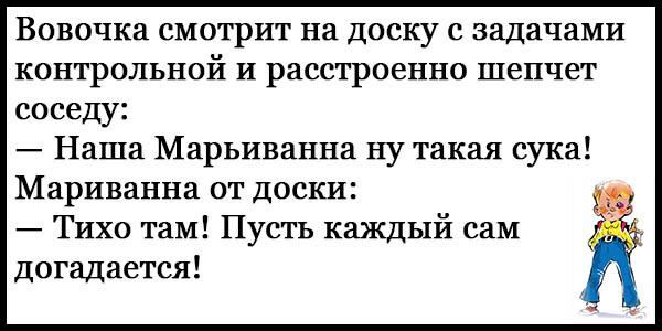 Смешные анекдоты до слез про Вовочку - читать бесплатно 8