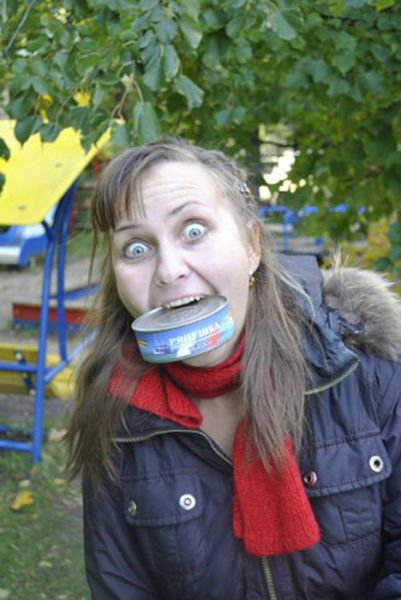 Смешные фото девушек - прикольные, ржачные, веселые 5