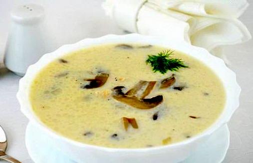 суп с сыром и шампиньонами с фото