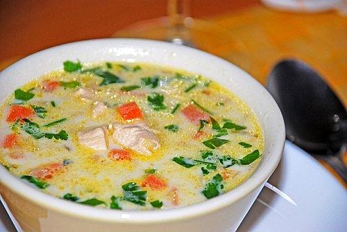 Суп с шампиньонами и плавленным сыром - рецепт и приготовление 3