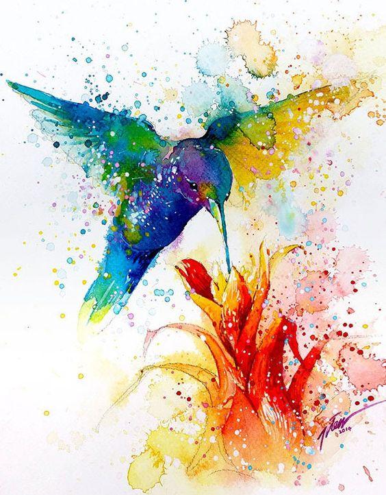 Красивые картинки акварелью - смотреть, скачать, прикольные 13