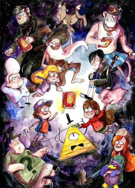 Прикольные картинки Гравити Фолз всех персонажей - подборка 3