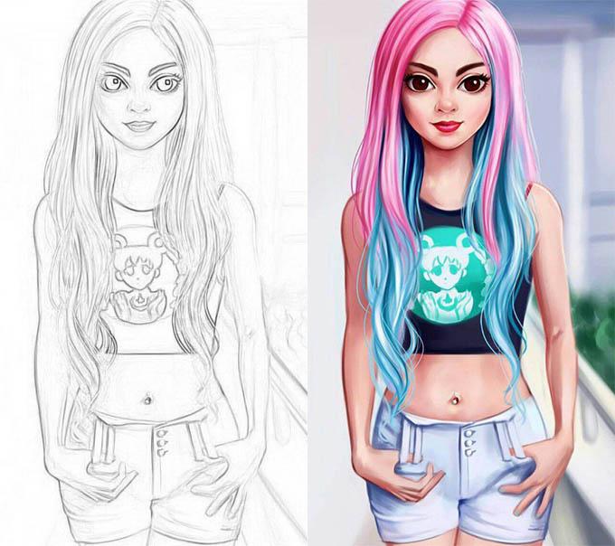Раскраски для девочек - распечатать, скачать, красивые, прикольные 5