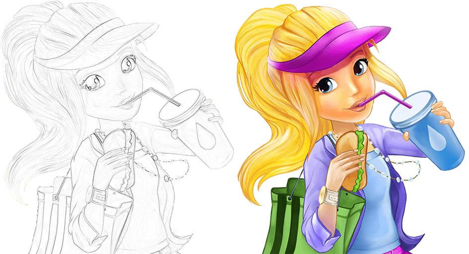 Раскраски для девочек - распечатать, скачать, красивые, прикольные 8