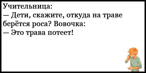 Смешные анекдоты про Вовочку - новые, свежие, ржачные, 2017 14