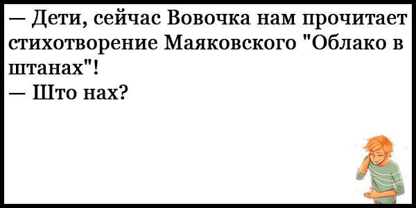 Смешные анекдоты про Вовочку - новые, свежие, ржачные, 2017 17