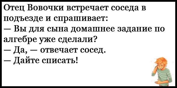 Смешные анекдоты про Вовочку - новые, свежие, ржачные, 2017 9