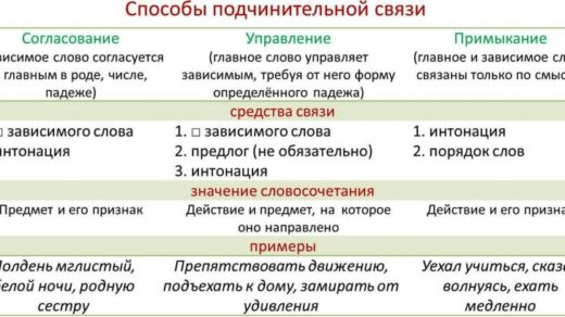 Типы подчинительной связи в словосочетаниях - 3 основных вида 2