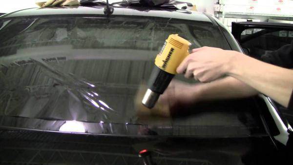 Как затонировать машину своими руками без фена фото пошаговой инструкцией