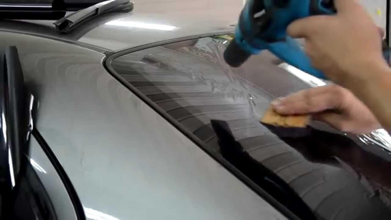 Тонировка автомобиля своими руками - как правильно затонировать стекла 3