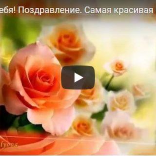 Видео поздравления с цветами День Рождения - скачать бесплатно