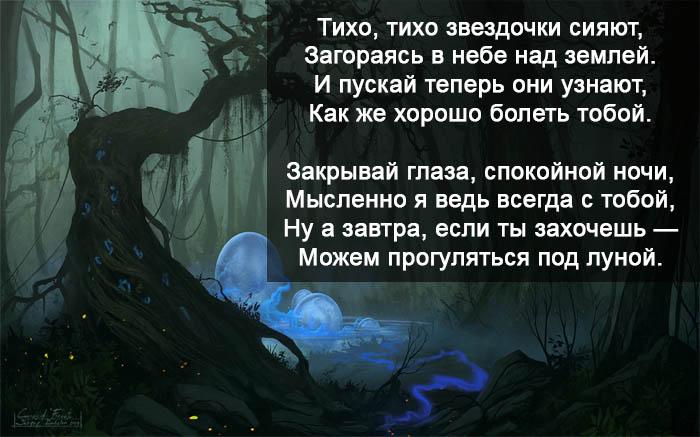 Пожелания спокойной ночи девушке в стихах - красивые, прикольные 9
