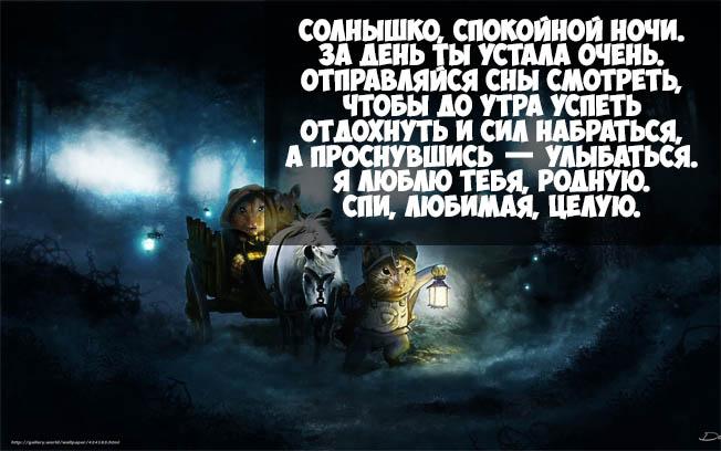 Пожелания спокойной ночи любимой девушке - в стихах, красивые, приятные 1