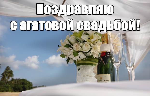 Поздравления нас с агатовой свадьбой 611