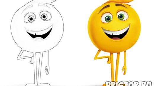 Раскраски Эмоджи из мультфильма - распечатать бесплатно, скачать 3