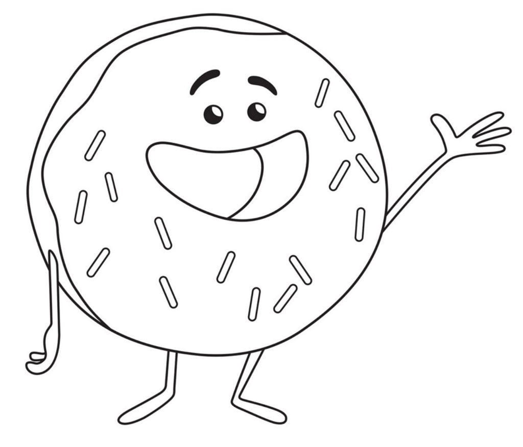 Раскраски Эмоджи из мультфильма - распечатать бесплатно, скачать 4
